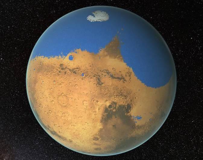 دانشمندان ناسا با بررسی های خود اعلام کردند مریخ در گذشته از یک اقیانوس اولیه برخوردار بوده است.