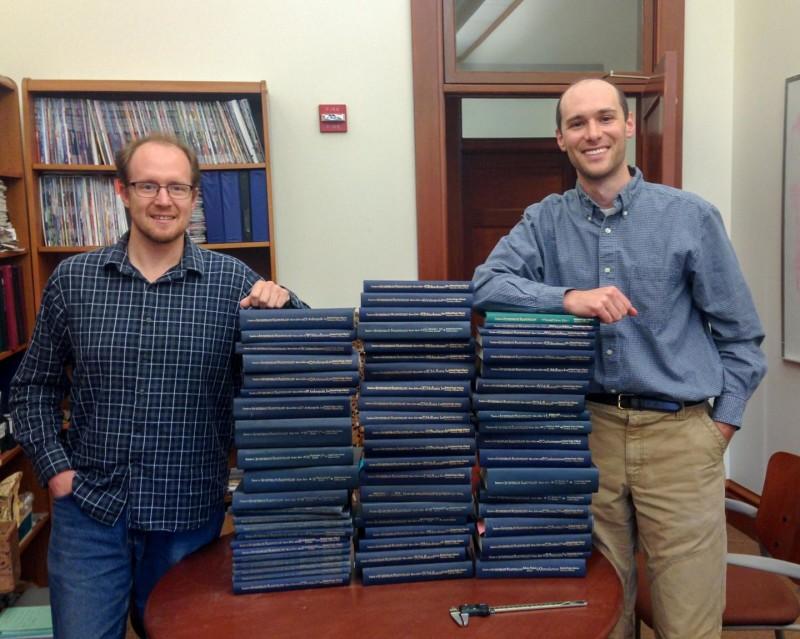 تصویری از پژوهشگران جاناتان پِین(سمت راست) و نوئل هِیم (سمت چپ)