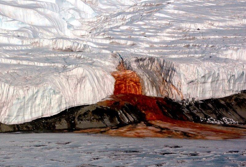 اسرار آبشار خون در قطب جنوب، فاش می شود