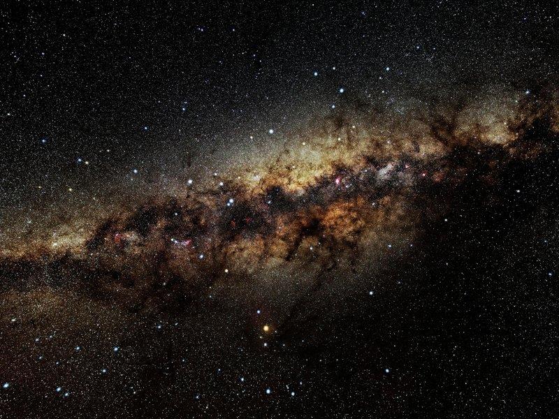 نمایی از ستارگان کهکشان راه شیری