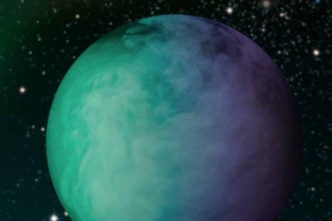 تصویری هنری از بخار و ابرهای تشکیل شده در سیاره ی کپلر-7B