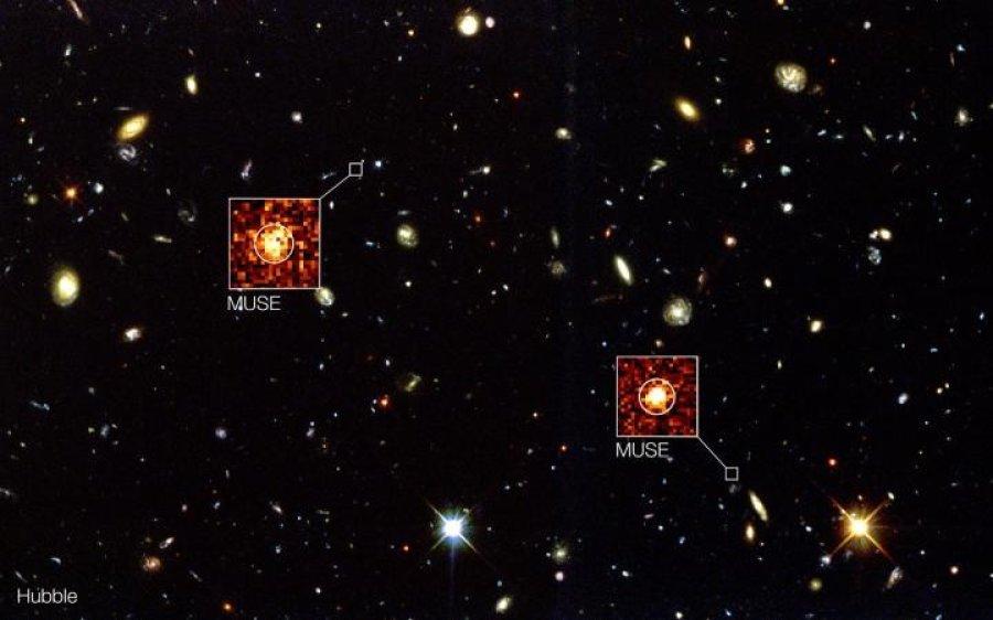 تصویر جدید که با ابزار MUSE در تلسکوپ بسیار بزرگ تلسکوپ بسیار بزرگ آژانس فضایی اروپا بدست آمده، فواصل، حرکات و دیگر ویژگیهای کهکشانهای دوردست را به نمایش میگذارد.