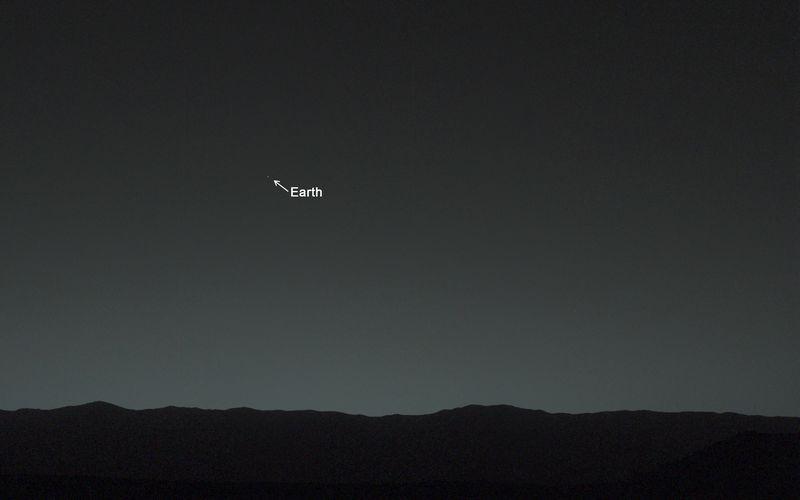زمین از منظر مریخ
