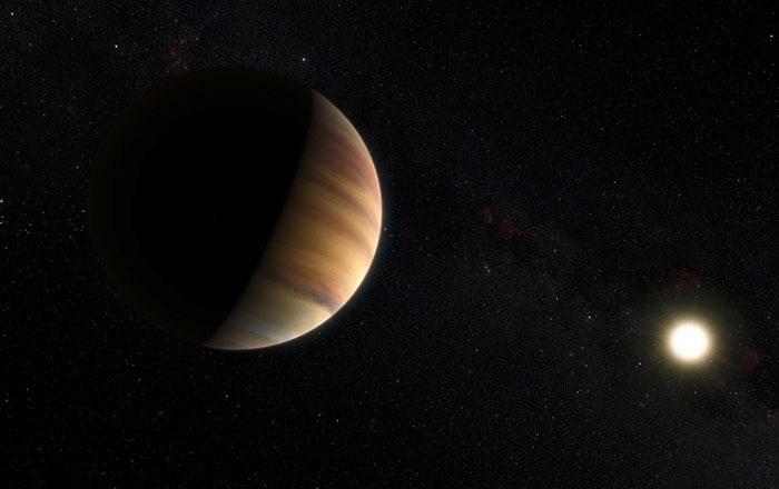 تصویری هنری از سیاره 51 Pegasi b