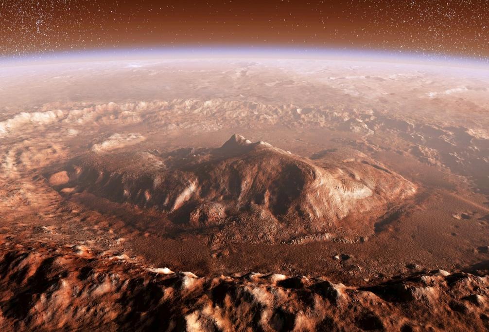مریخ نورد کنجکاوی در حال صعود به کوه شارپ است، تا به شواهد بیشتری از این سیاره دست یابد.