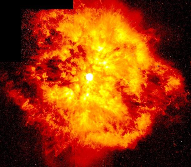تصویری از انفجار یک ستاره ی پر انرژی که توسط تلسکوپ فضایی هابل در مارس 1997 ثبت شد.