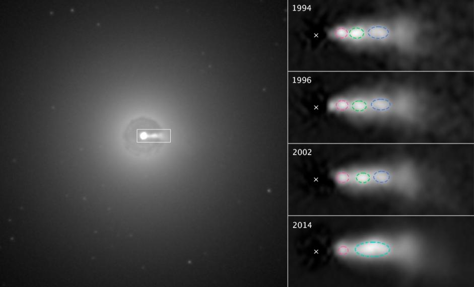 فعالیت های مرکز کهکشان NGC 3862 در طی سال های مختلف