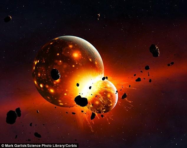 به گفته ی محققان ماه با یک برخورد و عظیم کیهانی شکل گرفته است.