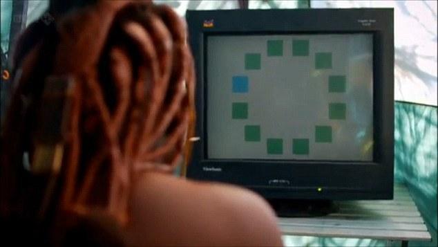 یکی از اعضای قبیله هیمبا در آزمایش تمایز رنگ آبی و سبز