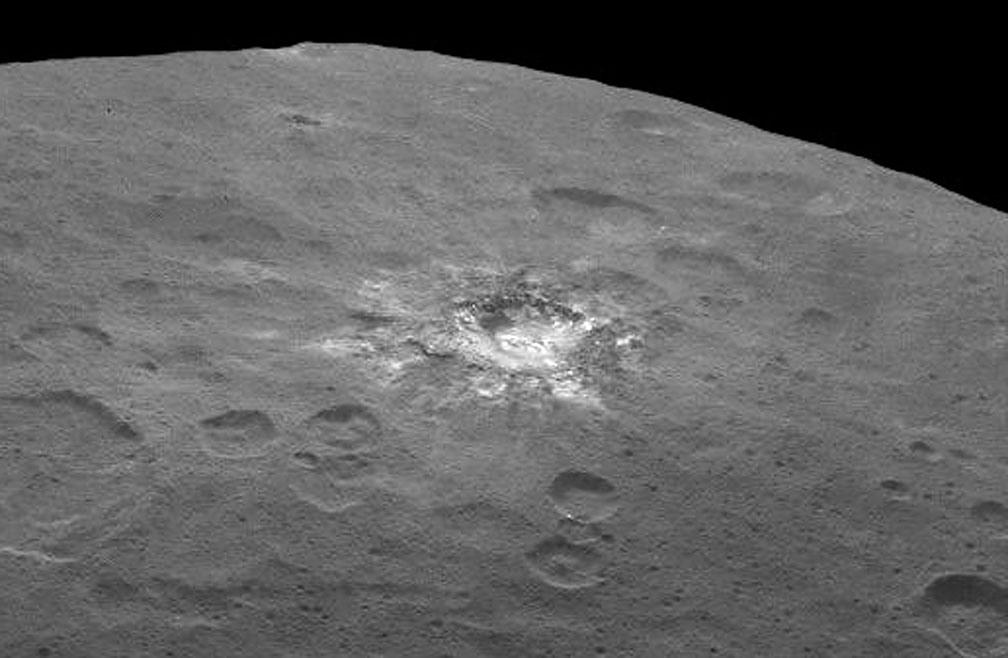 تصویری جدید سرس که از ارتفاع 4400 کیلومتری ثبت شده است.