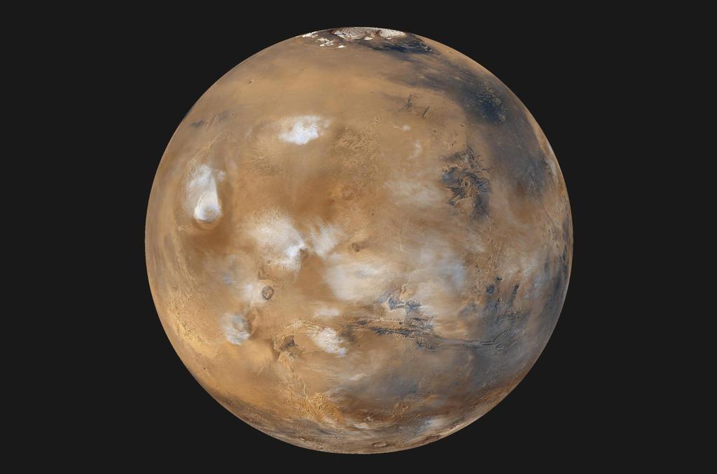 تصویری از سیاره مریخ که ماموریت های زیادی بر روی آن انجام شده است.