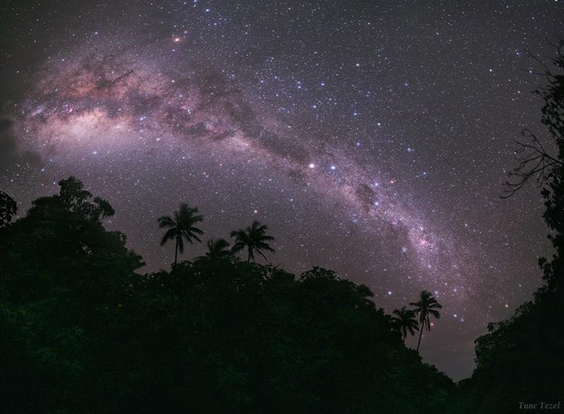 تصویری از بازوی مرکزی کهکشان راه شیری از روی زمین