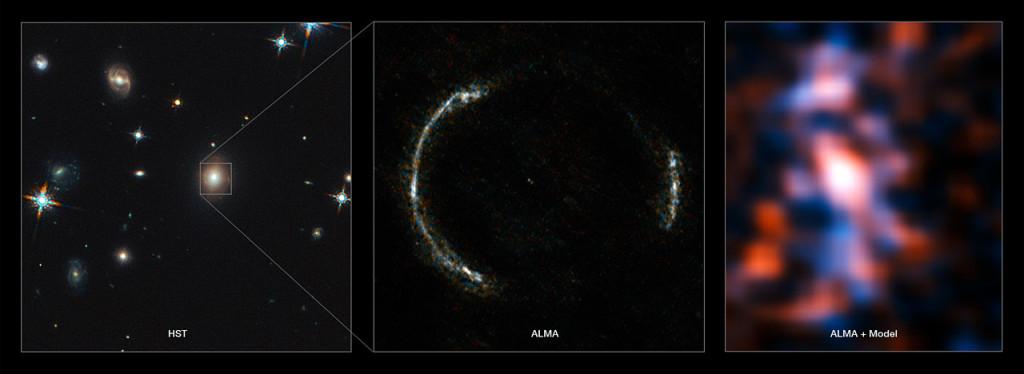 آرایه ی تلسکوپی آلما یک تصویر چشمگیری و دقیق از یک کهکشان دور دست، آشکار ساخت که به وضوح در حال تشکیل ستارگان جدید است.