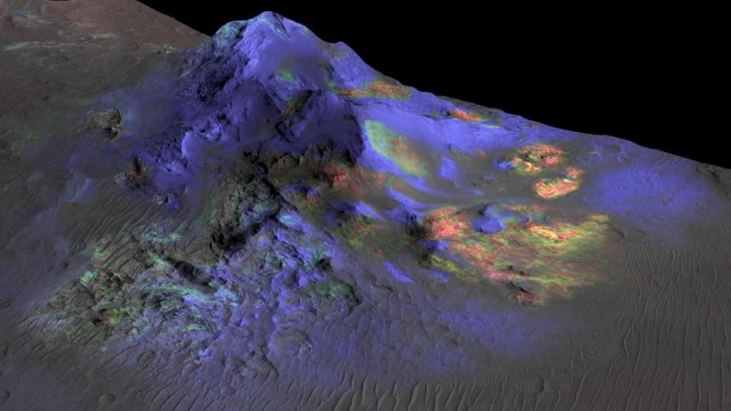 کشف توده شیشهای روی سطح مریخ