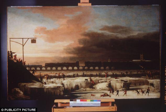 رودخانه تیمز یخ زده در سال 1677 در دوران کمینه ماندر