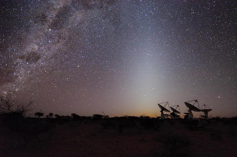 تصویری از آرایه ی تلسکوپ رادیویی جدید در استرالیا