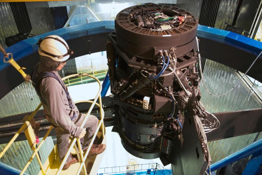 این تصویر هایپر سوپرایم کَم را در کانون اصلی تلسکوپ سوبارو نشان می دهد
