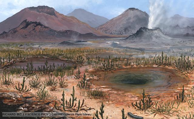 Late Devonian landscape, artwork