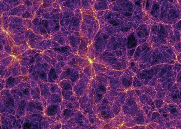 Simulation of the large-scale structure of matter in the univers
