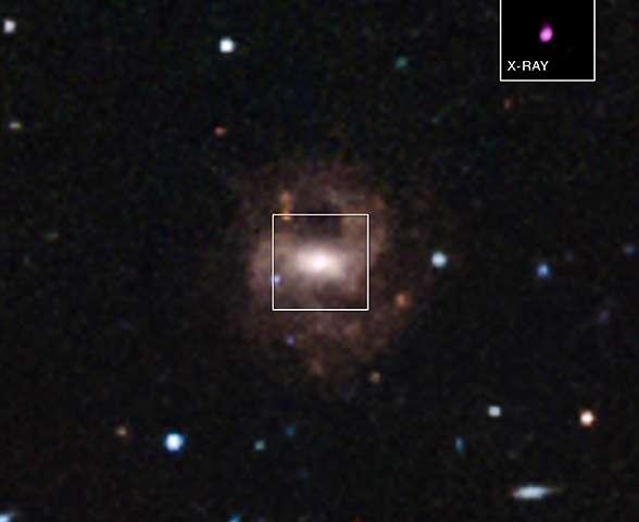 تصویری از کهکشان کوتوله RGG ١١٨ که کوچکترین سیاهچاله کلان جرم را در خود جای داده است.