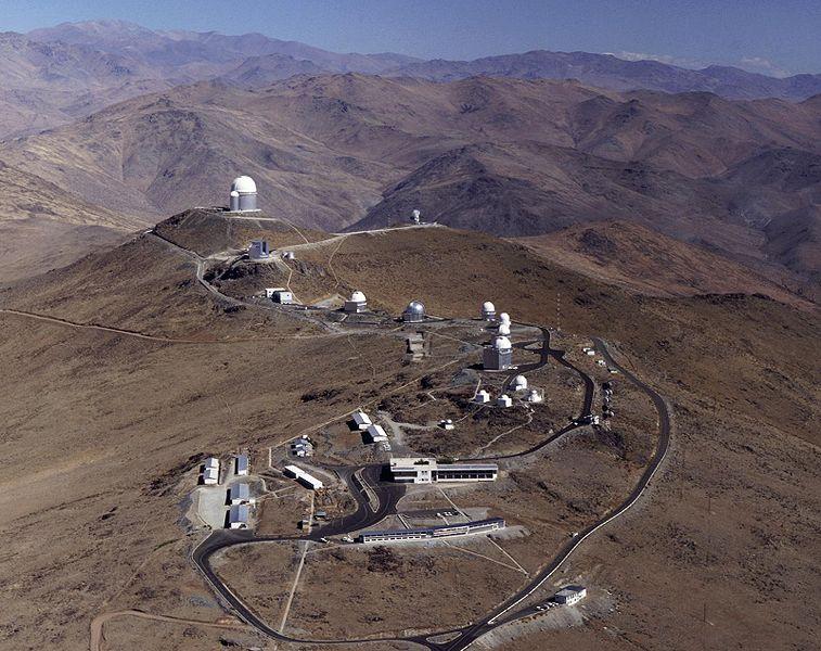 تصویری از رصدخانه ی لاسیلا در شیلی