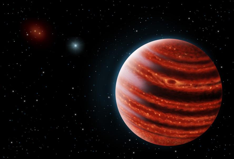 تصویری هنری از سیاره ی مشتری مانند  51 Eridani b