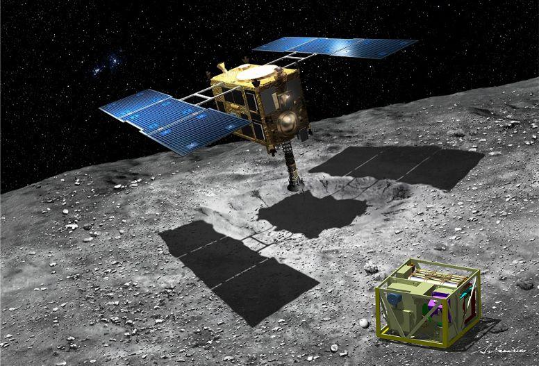 تصویری هنری از فضاپیمای تحقیقاتی هایابوسا-۲