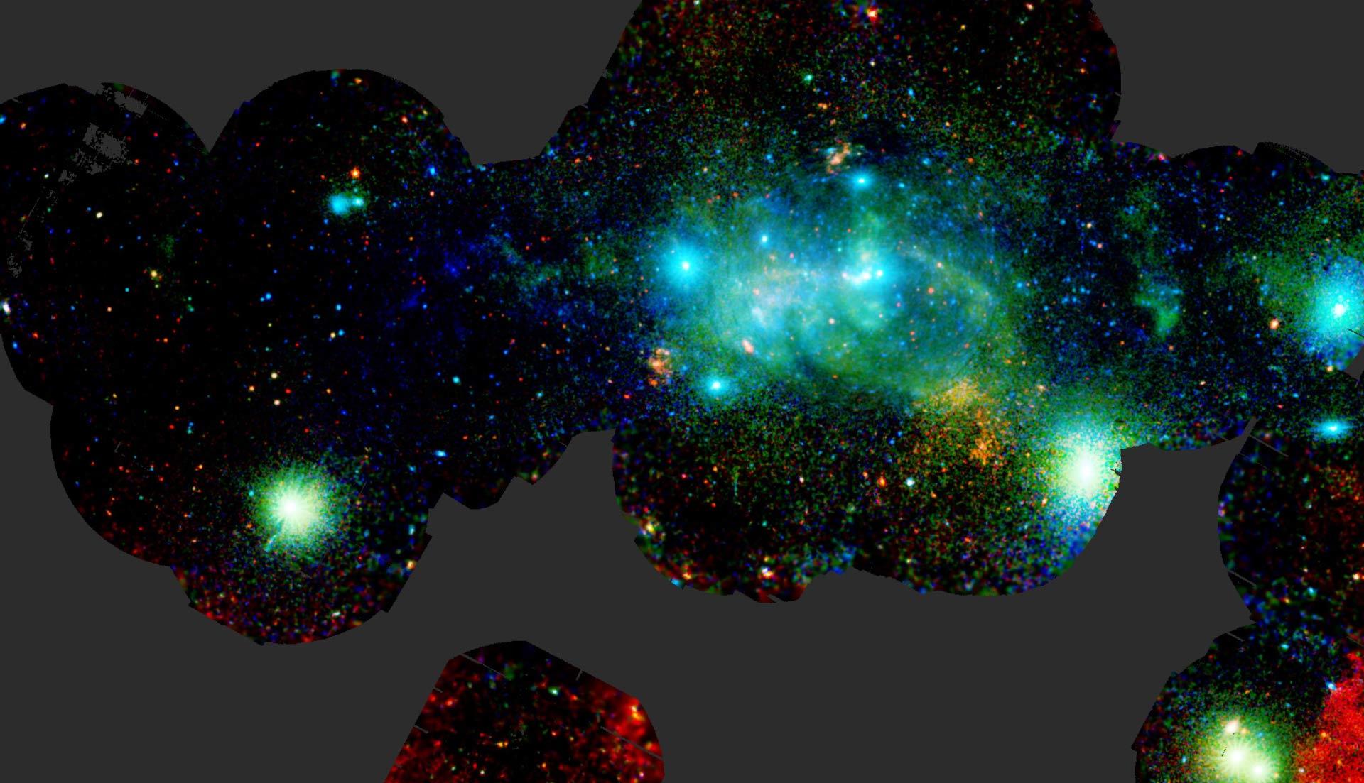 تصویری پرتو ایکس از مرکز کهکشان راه شیری