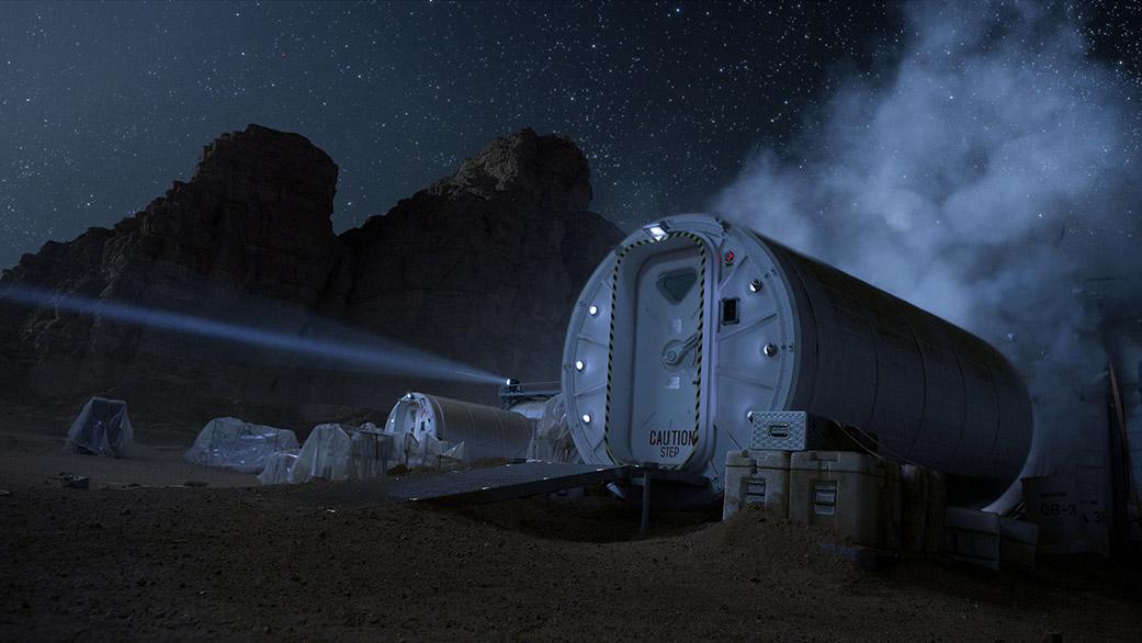 """نمای پایگاه مریخی فرضی در فیلم """"مریخیها"""""""