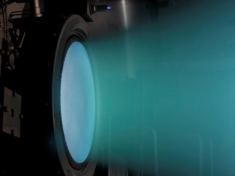 تصویری از موتورهای پیشران یونی ناسا