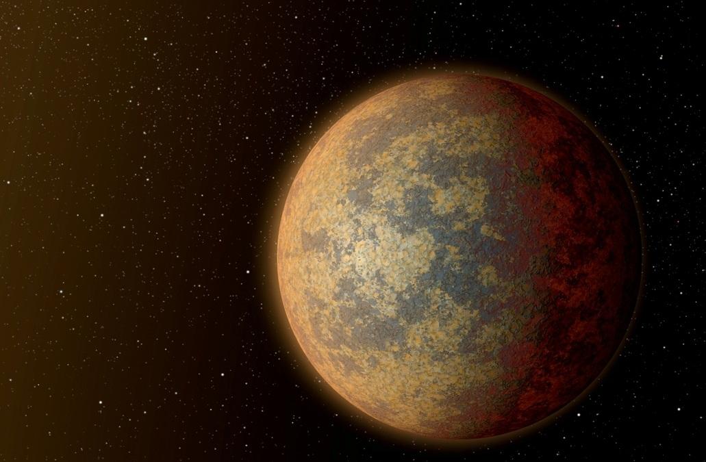 تصویری هنری از سیاره ی HD 219134b که در فاصله 21 سال نوری از زمین قرار دارد.