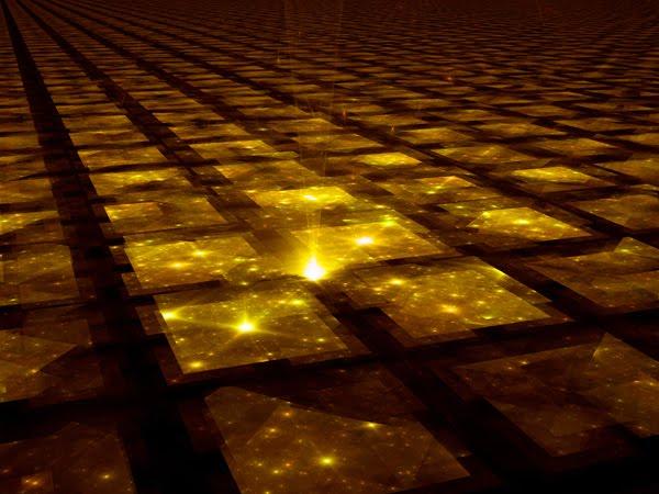 فضا-زمان شاید بیکران باشد و تا بی نهایت ادامه داشته باشد. در این صورت، همه ی چیزهای درون جهان ما می بایست در نقطه ای تکرار شوند و چهل تکه ای از جهان های بی پایان پدید آورند.