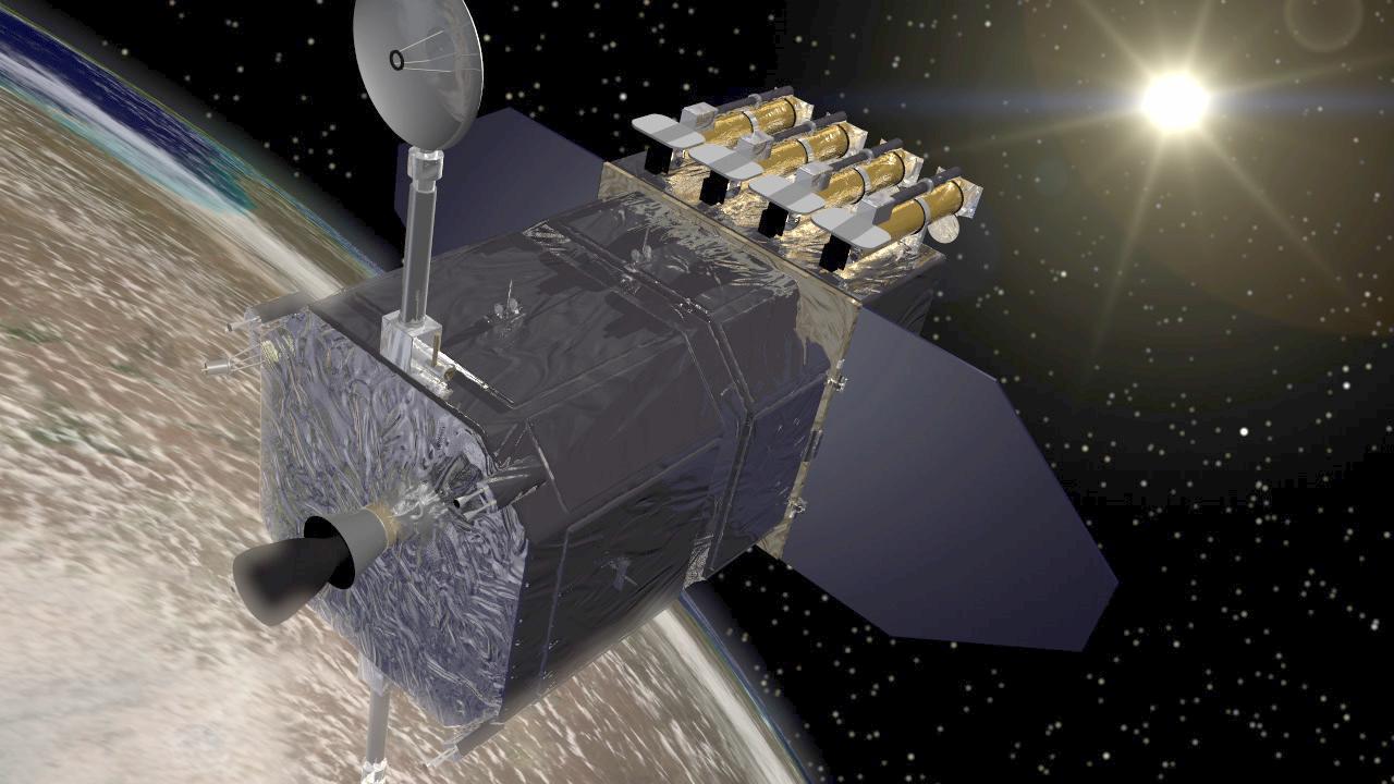 تصویری هنری از رصدخانه دینامیک خورشیدی یا (Solar Dynamics Observatory)