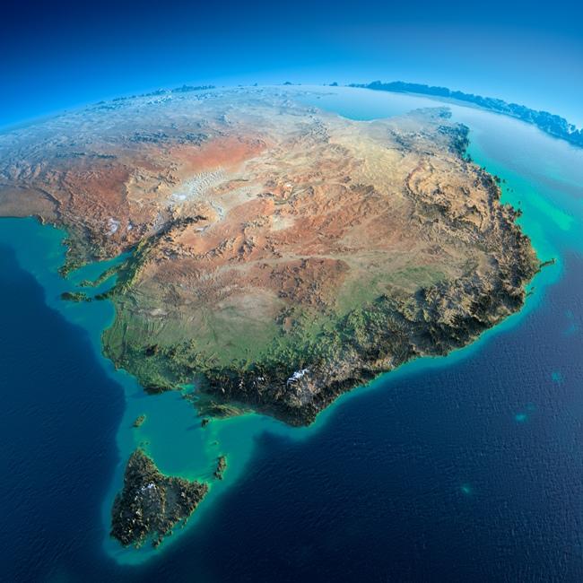 نمایی هنری و زیبا از قاره ی استرالیا