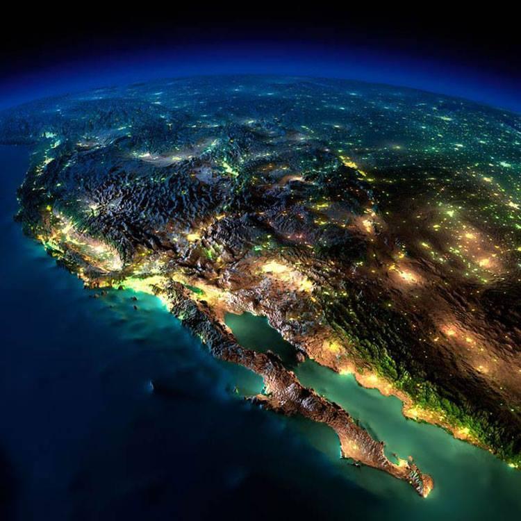 نمایی از کالیفرنیا و شهرهای اطرافش در آمریکا