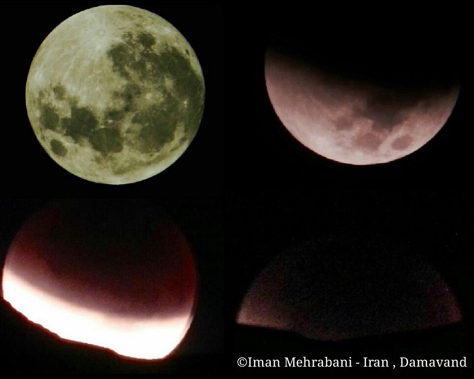عکسی از روند ِ ابر ماه گرفتگی سرخ در دماوند- ایران ، عکس از: ایمان مهربانی