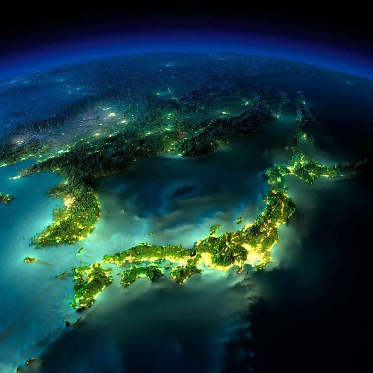 نمایی هنری از ژاپن
