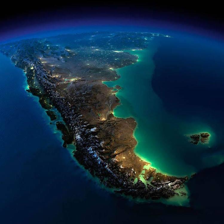 نمایی زیبا از آرژانتین و شیلی
