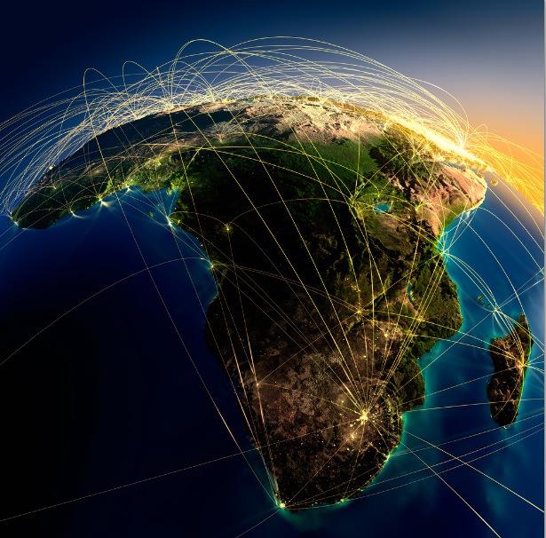 نمایی از قاره ی آفریقا