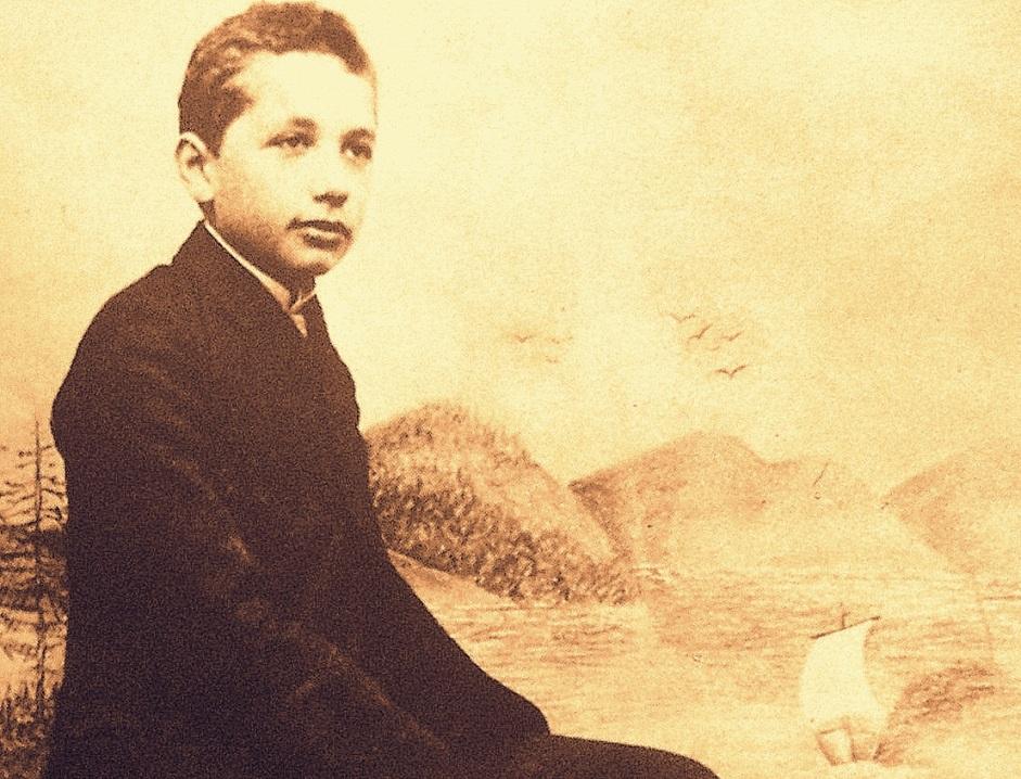 آلبرت اینشتین در نوجوانی