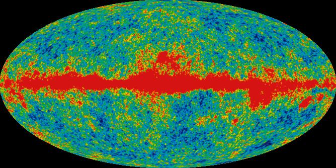 تابش زمینه کیهانی درست 380 هزار سال پس از بیگ بنگ را نشان می دهد و می تواند برخورد گرانشی جهان موازی را نشان دهد.