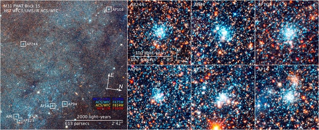 تصویری از خوشه های ستاره ای :AP244 - AP108 - AP323 - AP94 - AP6 - AP14
