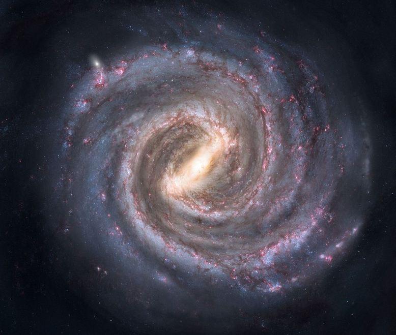 تصویری هنری از کهکشان راه شیری