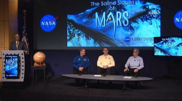 کنفرانس و گفتگوی دانشمندان ناسا در خصوص وجود آب مایع در مریخ- 28 سپتامبر 2015 واشنگتن