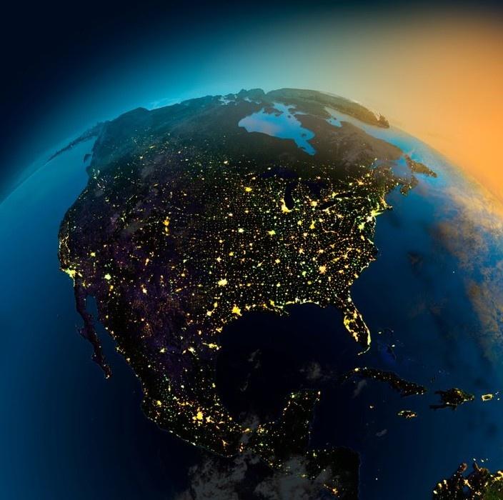 قاره ی آمریکای شمالی