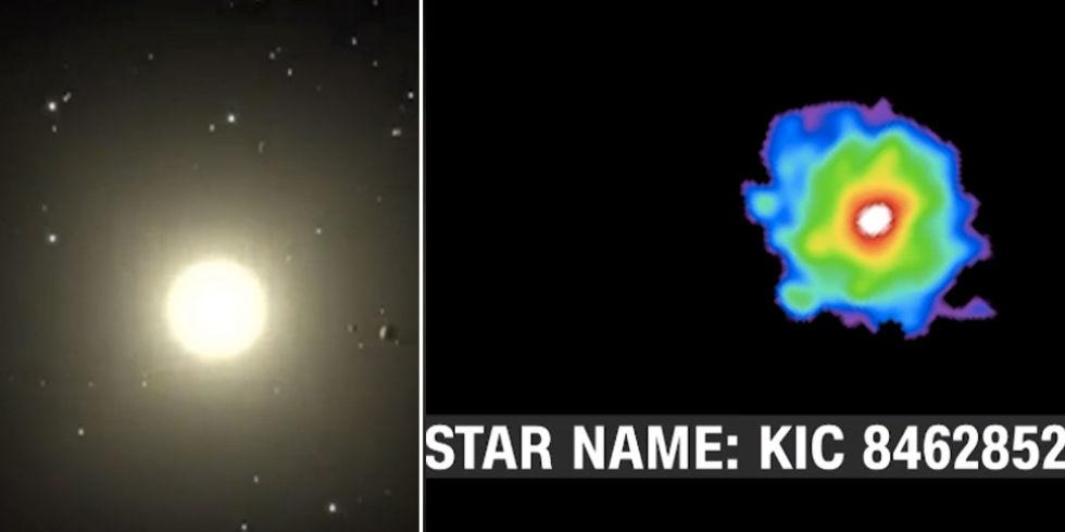 مشاهدات ستاره ی KIC 8462852