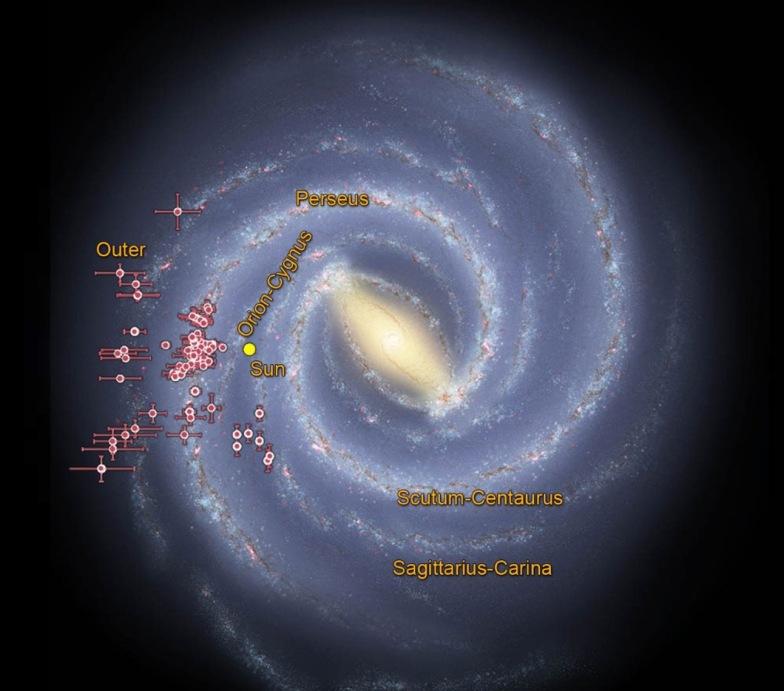 تصویر ناسا مکان خوشه های ستاره ای جوان را که از رویِ داده های جمع آوری شده فضاپیمای وایز میباشد را نشان می دهد.