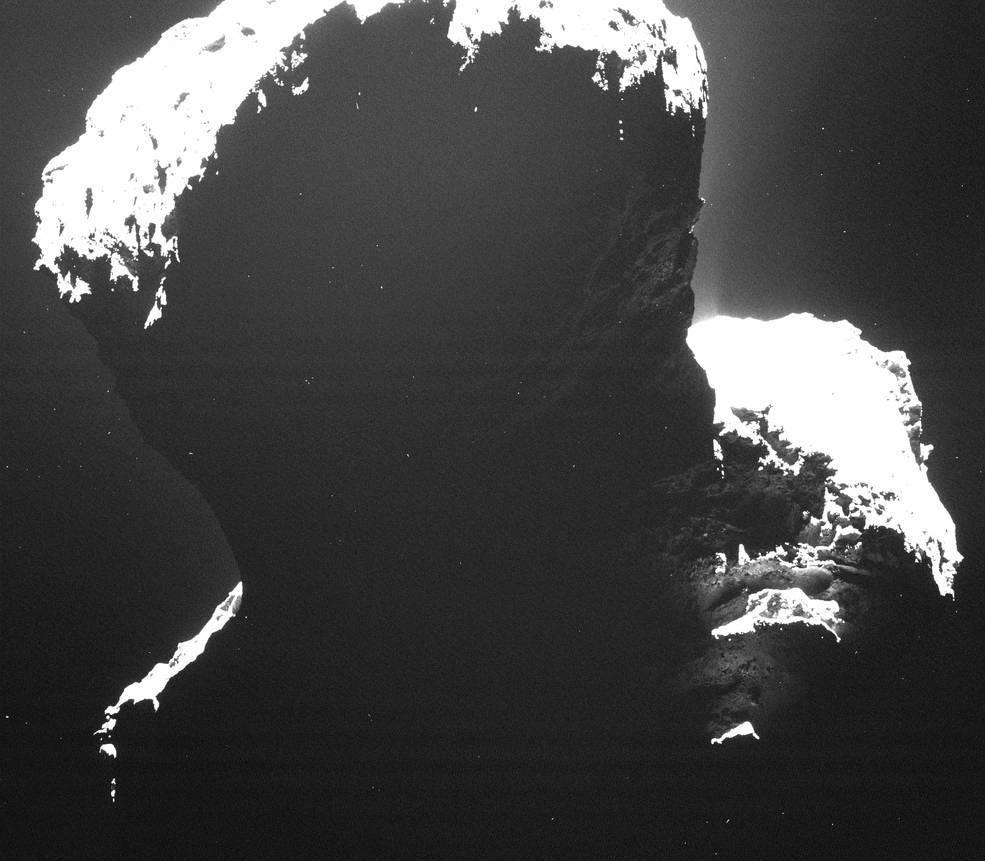 نمایی از سمت تاریک دنباله دار چوریوموف