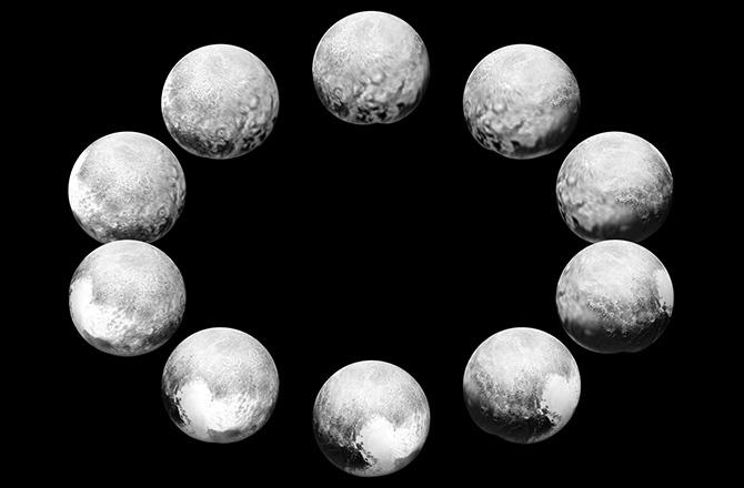 تصویری از یک روز کامل در سیاره ی کوتوله ی پلوتو
