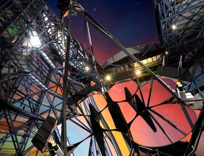 این تلسکوپ مجهز به هفت آینه ۸.۴ متری خواهد شد